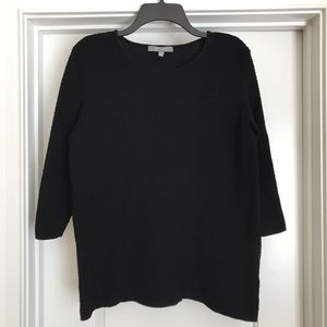 Daisy Fuentes Black Knit Top: Size Large